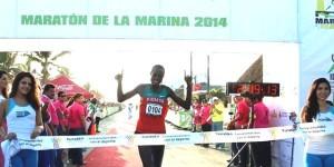 Gana keniano el Maratón de la Marina en Progreso