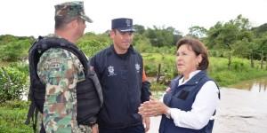 Recorre titular de Protección Civil Veracruz comunidades de Jampa que se vieron afectadas
