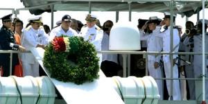 Encabeza gobernador de Veracruz Javier Duarte homenaje a marinos caídos