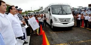 Transporte publico moderno y eficiente para Veracruz: Javier Duarte