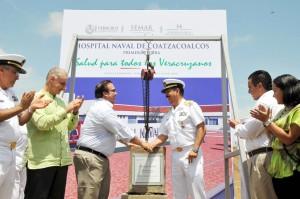 Inicia Javier Duarte en Coatzacoalcos la obra del Hospital Naval; inversión de 160 millones de pesos