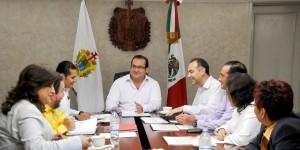 Se reúne gobernador Javier Duarte con la Comisión Ejecutiva de Atención a Víctimas