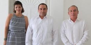 Productiva reunión del gobernador Roberto Borge con autoridades del INFONAVIT