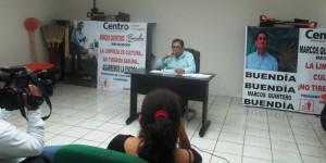 Agarremos la escoba y limpiemos la capital de Tabasco: Marcos Quintero