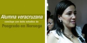 Alumna veracruzana concluye con éxito estudios de posgrado en Noruega