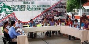 Signa CONALEP Tuxpan convenios en materia de servicio social y prácticas profesionales