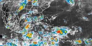 Prevén lluvias muy fuertes a intensas en el Sureste y Península de Yucatán