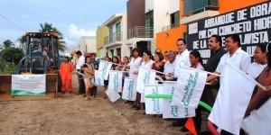 Arrancan obras por 10 millones de pesos en dos colonias de Coatzacoalcos