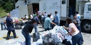 Envía DIF estatal 30 toneladas de ayuda de los veracruzanos a Baja California Sur