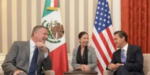 El Presidente Enrique Peña Nieto se reunió con el Alcalde de Nueva York