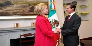 El Presidente Enrique Peña Nieto sostuvo encuentro con Hillary Clinton