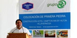 Villahermosa eje de negocios y turismo: Luis Arcadio Gutiérrez