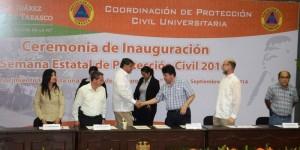 Ponen en marcha la Semana Estatal de Protección civil en la UJAT