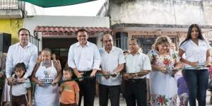 Vecinos de las colonias Centro y Melitón Salazar, ya cuentan con un Comedor del Bienestar