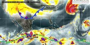 En tierra, el centro de la tormenta tropical Trudy se ubica a 120 kilómetros al este noreste de Acapulco