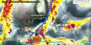 Continuaran lluvias en el Sureste, Gonzalo es huracán