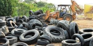 Destruye Salud 68 mil llantas para prevenir el dengue en Tabasco