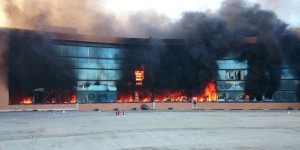 Incendian Normalistas el Palacio de Gobierno de Guerrero
