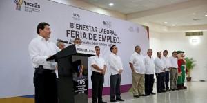 Ofertan en Yucatán más de mil 800 vacantes en Feria de Empleo