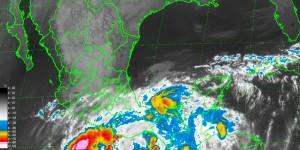 Continuaran lluvias 24 horas en el Sureste por baja presión y frente frio numero 7