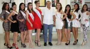 Alcalde de Centro recibe a Bellas participantes