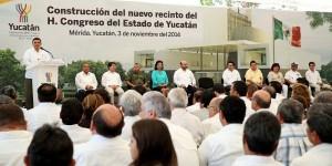 Inicia la construcción de la nueva sede del Congreso en Yucatán