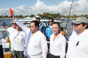 Da el gobernador Roberto Borge disparo de salida a Embarcaciones de la Pesca Deportiva en Mahahual