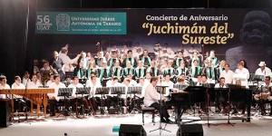 Concluye UJAT festejos por 56 Aniversario con concierto «Juchimán del Sureste»