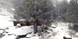 Cae nieve en el Cofre de Perote Veracruz