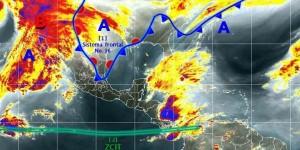 Genera Frente Frio número 16 lluvias, vientos y descenso de temperatura en el Norte y Noroeste de México
