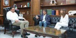 Recibe Rolando Zapata Bello a ex vicepresidente de Argentina