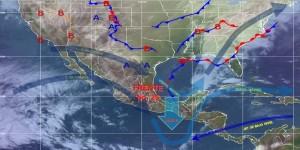El Frente Frio 28 ocasionara descenso en las temperaturas en gran parte de México