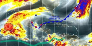 Persistirán las lluvias fuertes en Veracruz, Tabasco y Chiapas, evento de norte en el Golfo de México