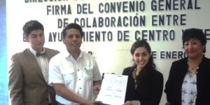 Firma la DAM Centro convenio con Asociación Internacional de Estudiantes