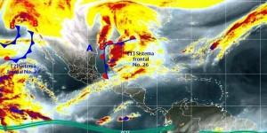 Pronostican lluvias fuertes para Veracruz, Tabasco, Chiapas, Quintana Roo y Campeche