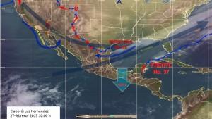 Se prevé continuaran lluvias fuertes en Sureste y Península de Yucatán