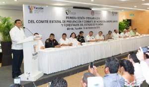 Yucatán, listo para la temporada de incendios 2015