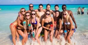 Inicio la fiesta de los springbreak en Cancún