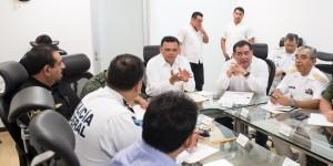 Garantizan autoridades seguridad pública y sanitaria en Yucatán