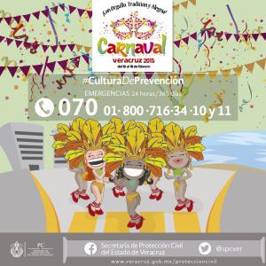 Implementan operativo especial para Carnaval de Veracruz 2015