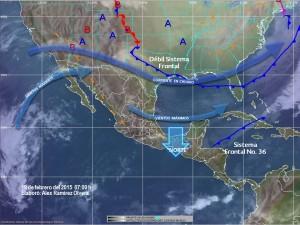 Norte en la Península de Yucatán, lluvias en Tabasco y surada en las costas de Tamaulipas