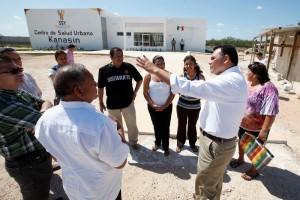 Supervisa el Gobernador la construcción del nuevo Centro de Salud Urbano de Kanasín