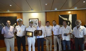 Por primera vez arriba barco alemán en Puerto Chiapas