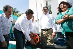 Con la coordinación de autoridades, se rehabilita sistema de agua potable en Telchac Puerto