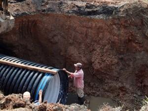 En 24 horas reparan colector pluvial en la capital de Tabasco
