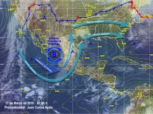 Novena Tormenta Invernal y entrada de humedad del Océano Pacifico Mantendrán lluvias en México