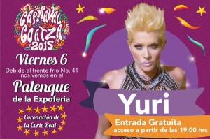 Yuri, en la coronación de la Corte Real Carnaval Coatza 2015