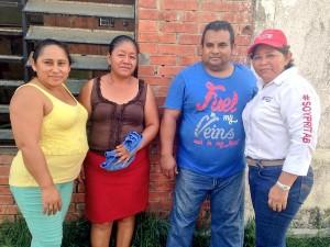 Continúan sumándose habitantes del Primer Distrito a María Elena Silvan