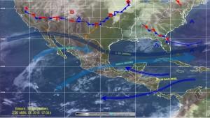 Se prevé lluvias fuertes en el DF, Puebla, Chiapas, Tabasco y Campeche