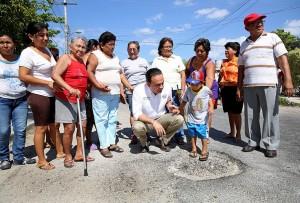 Más de 205 mil metros lineales de baches en Mérida se reparan: Nerio Torres Arcila